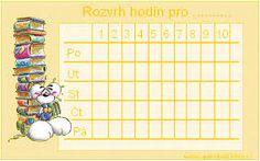 Výsledek obrázku pro rozvrh hodin simpsonovi Spongebob, 9 And 10, Periodic Table, Words, Periodic Table Chart, Sponge Bob, Horse