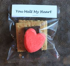 How To Make Valentine Smores - Cute idea for DIY Valentine's Day treat!