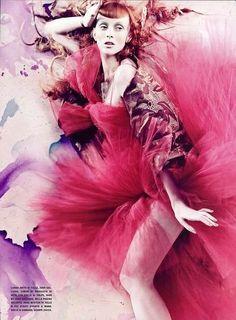 Watercolor Fantasy Couture: 'Pure Wonder' in Vogue Italia