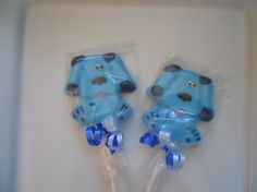 12 Blues Clues Nick Jr 1st 2nd 3rd Birthday Chocolate Lollipops Party Favor Birthday Party Favor Kids. $13.00, via Etsy.