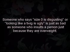 Stop all body shaming.