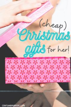 Shopping for Christmas on a budget this year? This gift guide has some fun, awesome gift ideas for women! These frugal gifts are perfect for the woman who has everything or even a friend or co-worker. But best of all, they're super affordable and perfect for any budget and any occasion!