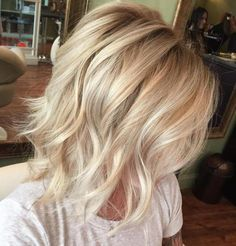 Platinum Blonde Layered Haircut