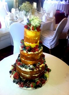 Unfrosted Wedding cake