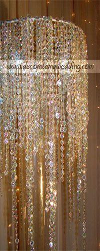 DECORATE MY WEDDING - Crystal Wedding Centerpieces - Wedding Decorations - Crystal Waterfall Wedding Centerpieces