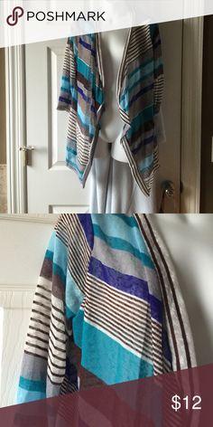 Striped cardigan Super cute see thru cardigan. Never worn Jackets & Coats