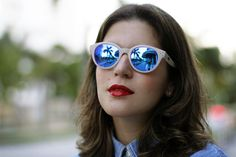 #spektre #sunglasses #mirrored #redlips #lipstick