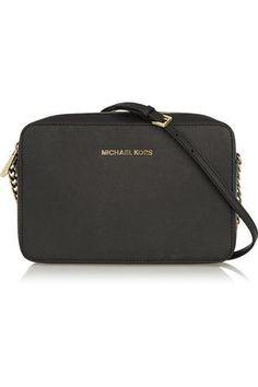 love this cute bag ~Jet Set Travel mini textured-leather shoulder bag #shoulderbag #vacation #women #covetme #michaelmichaelkors
