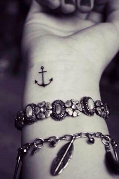 20 Tattoos For Women With Meaning | herinterest.com Anchor Anchor tattoos are one of the oldest designs available. They first became popular with sailors and merchants over a hundred years ago but slowly faded out of fashion. They symbolize stability, journeys, strong foundations and in some cases have also been known to mean boyfriend or girlfriend. They remind people to stay grounded.
