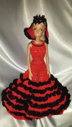 Crocheter la danseuse espagnole robe pour par GrandmasGalleria