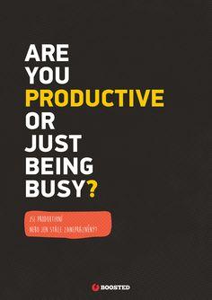 Motivační plakát Jsi produktivní? (Anglicky/Česky)