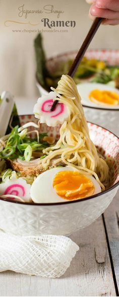 Shoyu Ramen- Japanese Ramen Noodles in a Soy Sauce Flavoured Soup Shoyu ramen is one of Japan's famous ramen flavours made from a soy sauce based soup! It has a light, simple, and delicious flavour!...