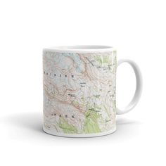 Bring a little adventure to the breakfast table with these National Park map coffee mugs. Ceramic Dishwasher safe Microwave safe Available in 11 oz Most Visited National Parks, National Parks Map, Thru Hiking, Go Hiking, Map Compass, The Mountains Are Calling, Gadget Gifts, Get Outside, Girls Be Like
