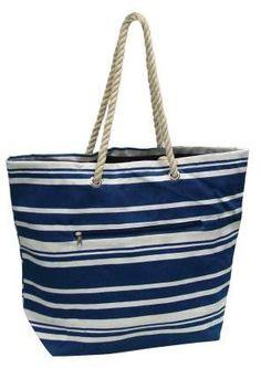 52c197d58f88 Eco Friendly Striped Beach Tote Bag - This eco friendly bag sports colorful  stripes.