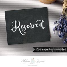 Printable Reserved sign wedding signs by MadameLevasseur on Etsy