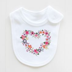 blushing hearts bib .. sooooo sweet!