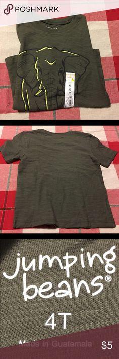 Cute elephant T-shirt 4T Boys Adorable elephant T-Shirt for boys Size: 4T Jumping Beans Shirts & Tops Tees - Short Sleeve