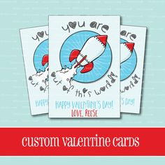 CUSTOM VALENTINE CARDS Out of This World by ThePeachandPineapple