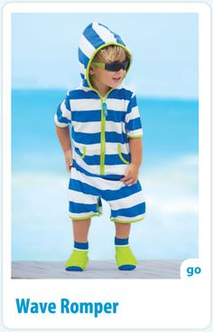 Sun Smarties: Wave Romper collection. Our lightweight terry romper is so airy, soft, and easy-on, it's destined to become his favorite summer outfit. Pair with swim socks and shades for complete, carefree protection.