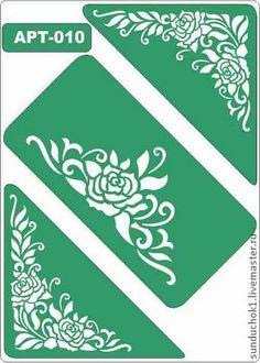 трафарет 010 - зелёный,трафарет,трафареты,Декупаж,материалы для творчества