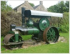 Steam road roller - the only one remaining in a park in Scotland and one of only two remaining in parks in the UK