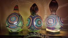 PAY FOR 2 GET 3 & Free Shipping  Authentic Gourd Lamp Unique Gift -Lampe de Zucca Kalabasse Lamp Kürbislamp by GourdLampCollection on Etsy