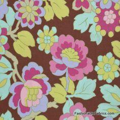 Fabric... Gypsy Caravan Cutting Garden in Mocha by Amy Butler