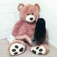 Read Image from the story Photo chronique by Ecrire_pour_exister_ (L'espoir d'une rose) with reads. Teddy Bear Hug, Giant Teddy Bear, Cute Teddy Bears, Big Bear, Teddy Girl, Girly Pictures, Cute Photos, Photo Ours, Bear Tumblr
