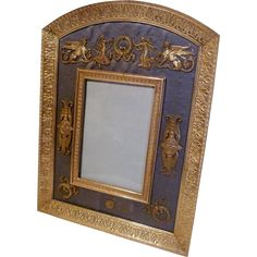 Dore French BRONZE Frame w/Silk and Ornaments ca. 1890 from theframelady on Ruby Lane