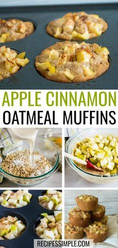 These Apple Cinnamon Oatmeal Muffins make a delicious breakfast or snack. Made w… These Apple Cinnamon Oatmeal Muffins make a Apple Oatmeal Muffins, Apple Cinnamon Oatmeal, Oatmeal Breakfast Muffins, Oatmeal Cups, Baked Oatmeal, Healthy Apple Cinnamon Muffins, Oat Pancakes, Oat Muffins, Good Healthy Recipes