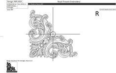 Machine Embroidery Design Decoration corner by RoyalPresentEmb