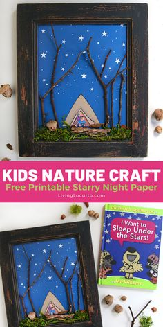 """""""I Want to Sleep Under the Stars"""" Nature Craft for kids is not only an adorable homemade gift idea for the holidays, but a perfect kids activity to go along with the newest Unlimited Squirrels book release by Mo Willems. Click the link to get the book and free printable to make this craft. It's full of funny, furry adventures, cute jokes, and nutty facts! #ad with Disney Book Group #UnlimitedSquirrels Cute Kids Crafts, Holiday Crafts For Kids, Craft Projects For Kids, Preschool Crafts, Preschool Ideas, Activities For Kids, Craft Ideas, Earth Day Crafts, Nature Crafts"""