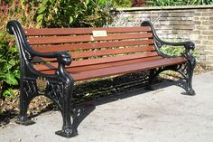 Blueton Limited - The new name in street furniture - Ref 050 Cast Iron & Timber Seating  £600.00