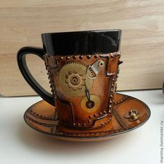 Steampunk coffee cup