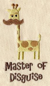 Master of Disguise (Applique) | Urban Threads: Unique and Awesome Embroidery Designs