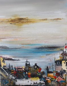 A Slipway by Scottish Contemporary Artist Rosanne Barr