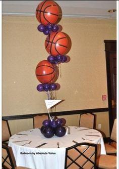 Balloon Basketball Centerpiece