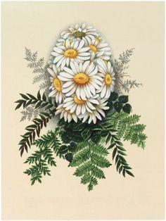 Vintage Daisy Egg Image