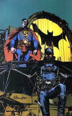 TOMMY EDWARDS rare BATMAN & SUPERMAN print SIGNED limited Last Call STEAM PUNK! | eBay
