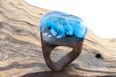 "Wooden Ring ""Infinity-Sky"""