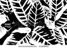 Exotic plants. Tropical background. Elegant black and white graphics. Vector illustration EPS 10.