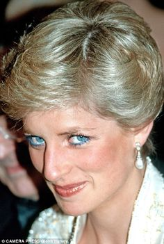 The Princess is pictured at a gala dinner in New York during 1989