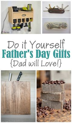 The BEST DIY Gift Toppers – Pretty and Easy Handmade Gift Wrapping Ideas for Christmas, Birthdays, Holidays or presents for any special occasion! A Do It Yourself Father's Day {DIY Gift Projects, Recipes and Ideas Dad will LOVE! Diy Gifts For Dad, Easy Handmade Gifts, Diy Father's Day Gifts, Father's Day Diy, Homemade Gifts For Men, Handmade Ideas, Wrapping Ideas, Gift Wrapping, Diy Craft Projects