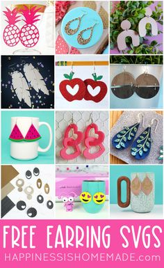 Cricut Tutorials, Cricut Ideas, Vinyl Crafts, Paper Crafts, Cricut Svg Files Free, Diy Leather Earrings, Cricut Craft Room, Cricut Creations, Leather Projects