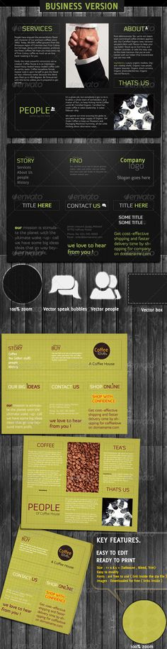 Business And Coffee Shop Brochure