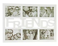 Bilderrahmen Friends, 6er Collage, weiß