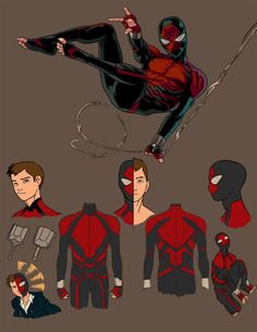 hey heres my redesigns for the Project Rooftop redesign challenge. P:R Spiderman redesign Comic Book Characters, Marvel Characters, Comic Character, Comic Books Art, Comic Art, Character Design, Spiderman Kunst, All Spiderman, Amazing Spiderman
