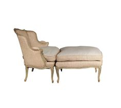 french louis xv style duchesse brisee chaise by la grange de s furniture styles