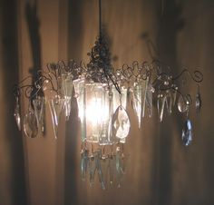 clear lit chandelier