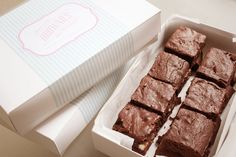 Beautiful handmade packaging for Favor Boxes #brownies